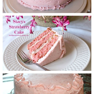 Stacy's Strawberry Cake with Strawberry Butter Cream Frosting