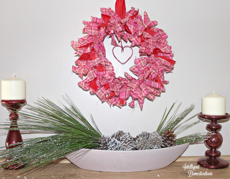 How To Make A Valentine Rag Wreath at intelligentdomestications.com