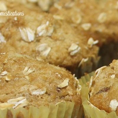 Apple Banana Oat Nut Muffins