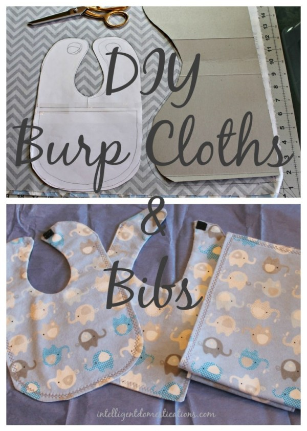 Bibs and burp cloths plus a bib and burp cloth pattern