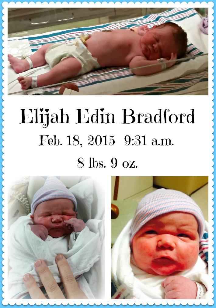 Elijah Edin Bradford announcement