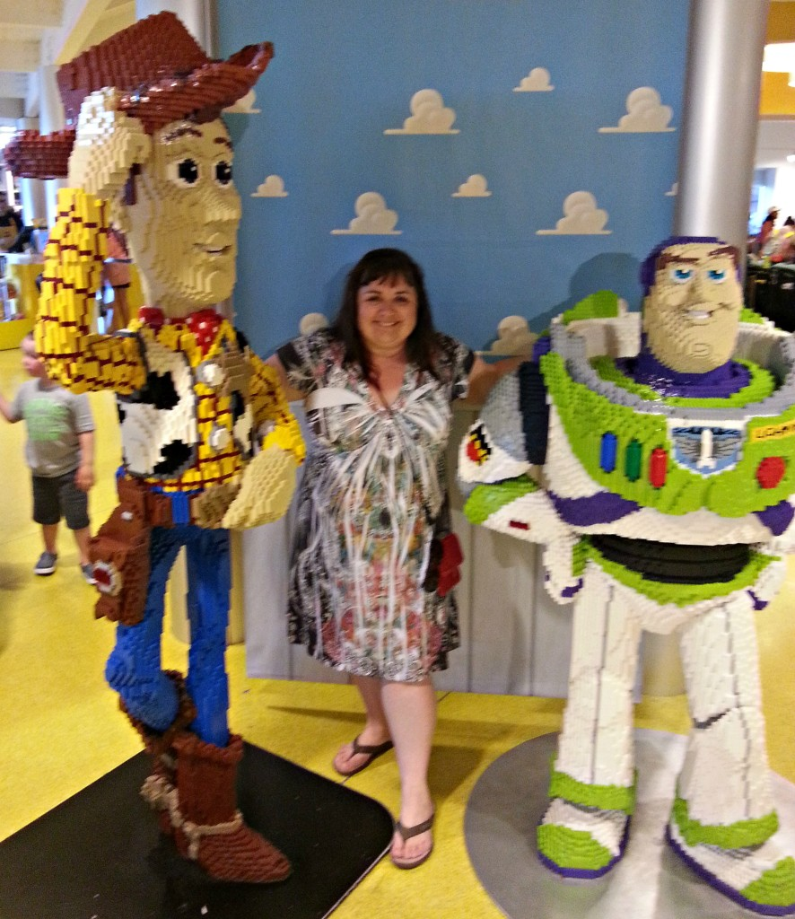 Buzz and Woody at the Lego store in Downtown Disney.intelligentdomestications.com