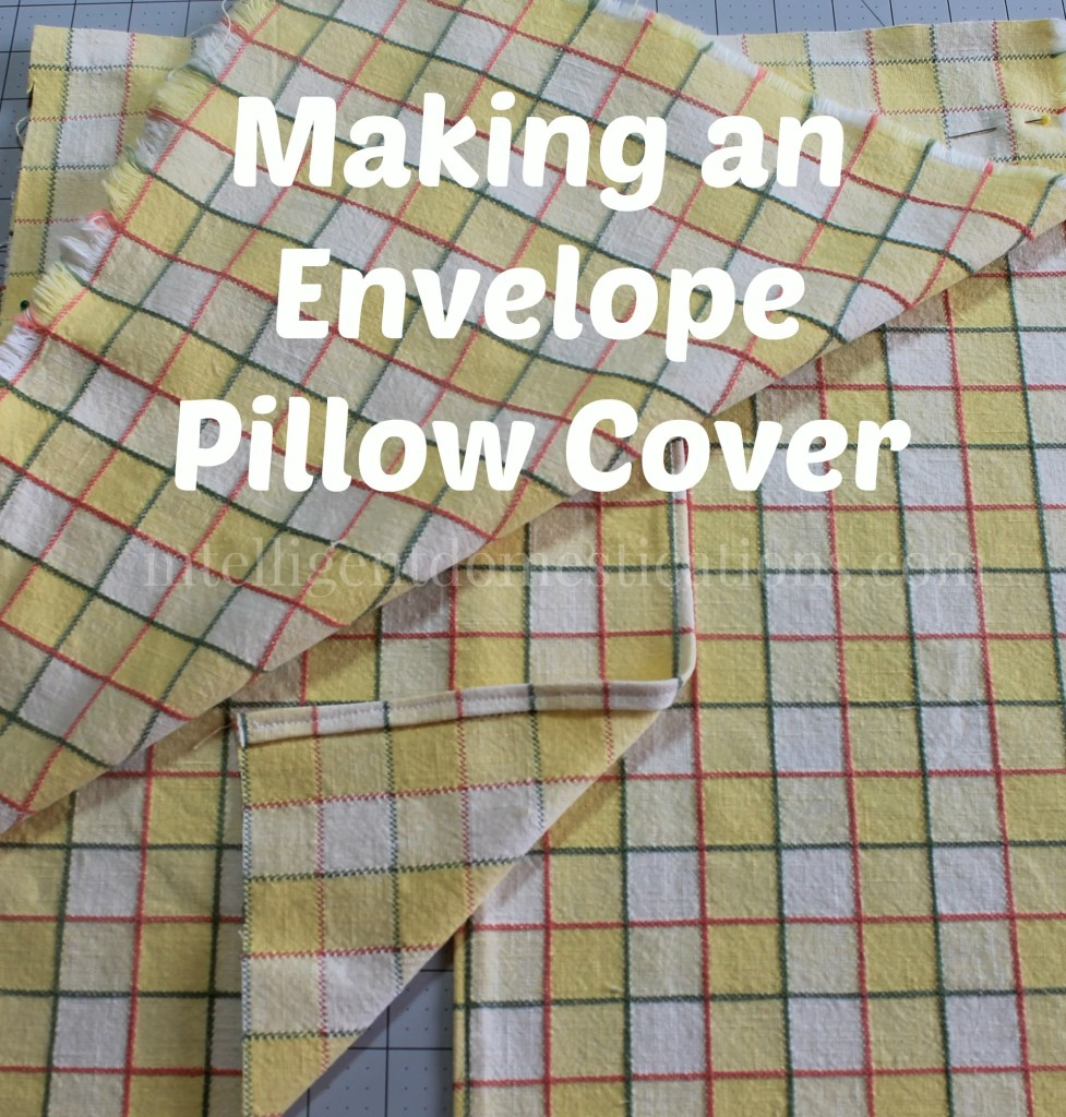 photo of step in making an envelope pillow cover