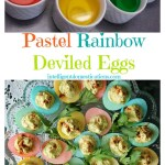 Pastel Rainbow Deviled Eggs at www.intelligentdomestications.com