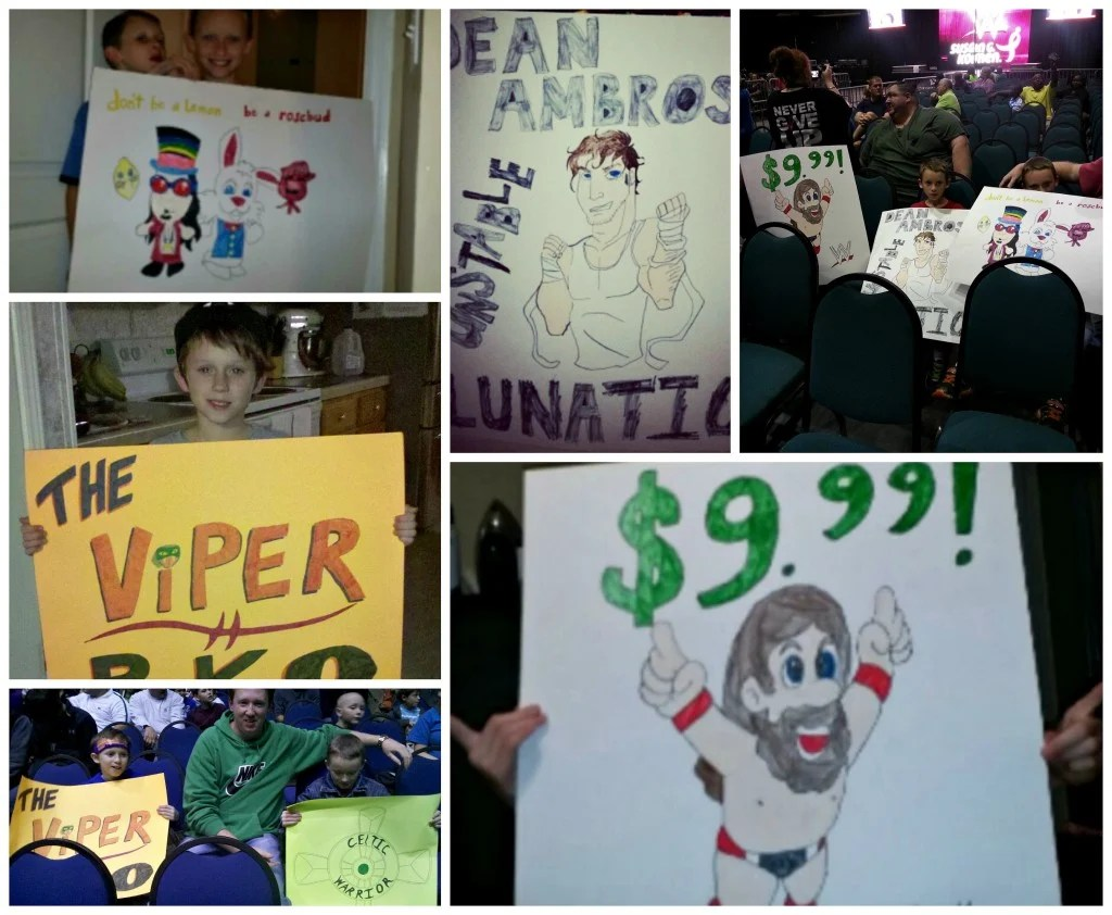 WWE posters and good times with our grandsons.intelligentdomestications.com