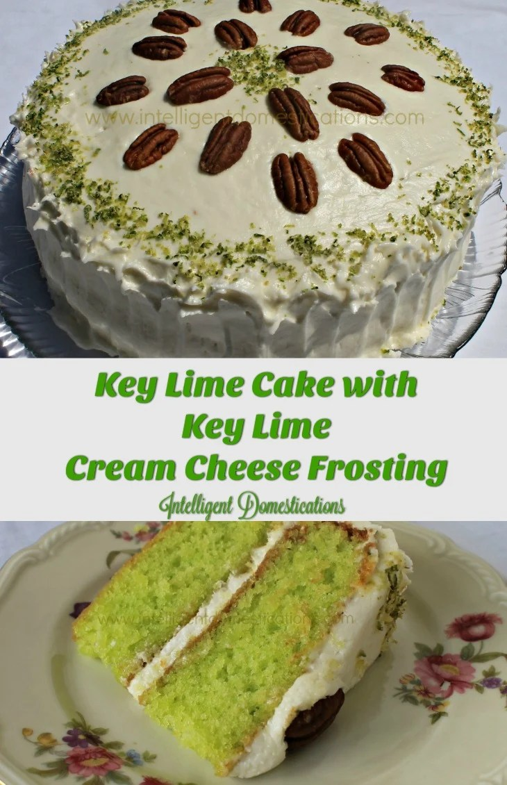 Key Lime Cake recipe with Key Lime Cream Cheese Frosting