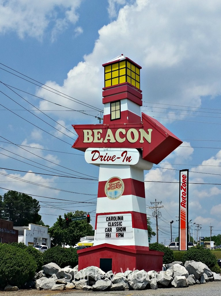 Beacon Drive In Iconic Lighthouse sign