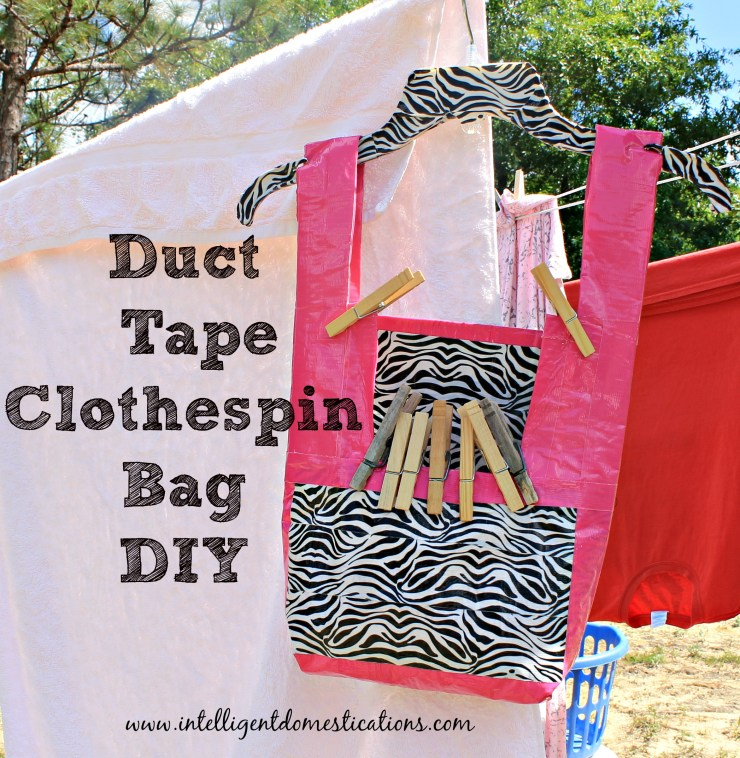DIY Duck Tape Clothespin Bag