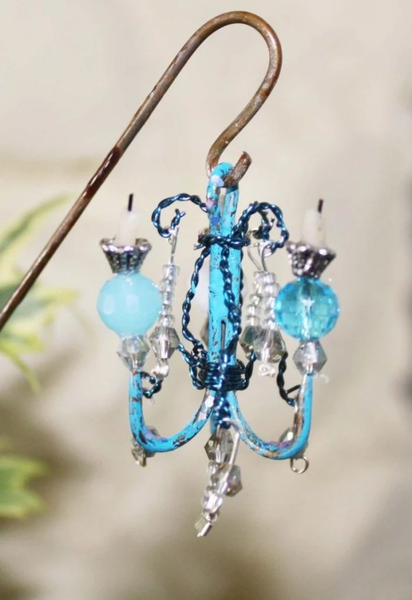 Fish Hook Chandelier for your Fairy Garden