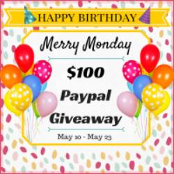 Merry Monday Link Party #54 and $100 Paypal Cash Giveaway
