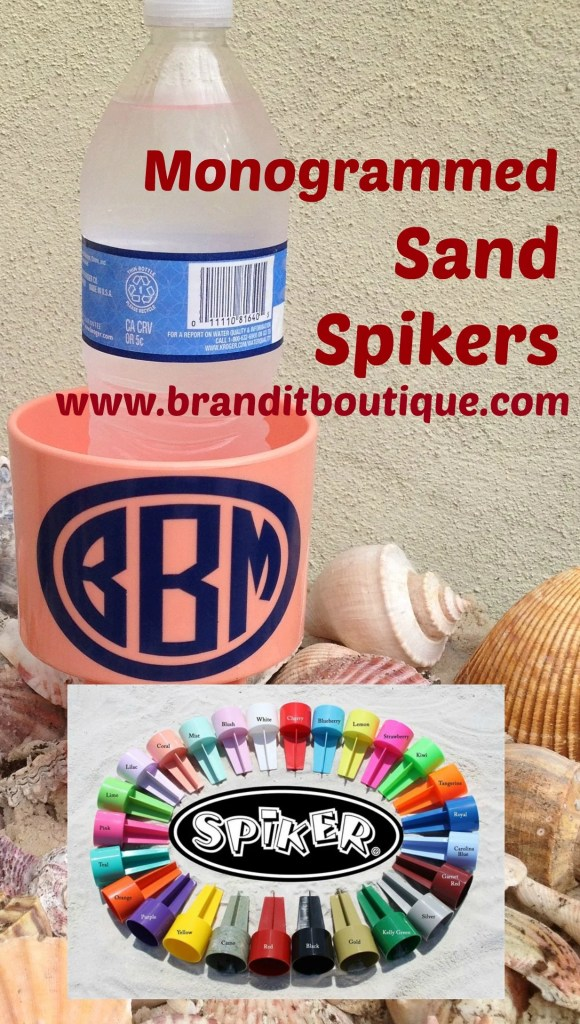 Order your Monogrammed Sand Spikers from www.branditboutique.com