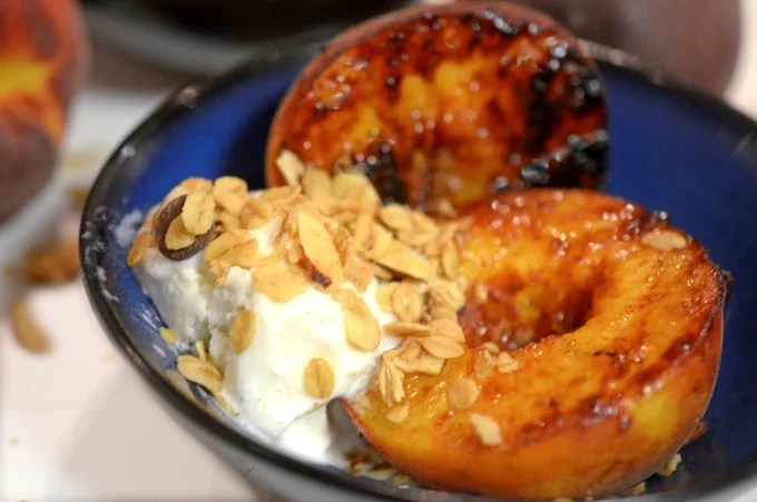 Grilled Peach Crisp from Platter Talk