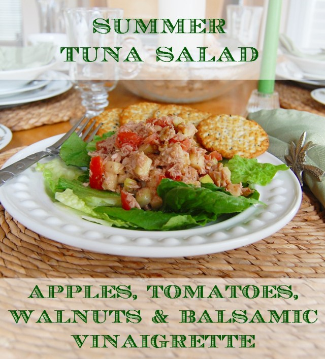 Summer Apple & Tuna Salad from Across the Blvd