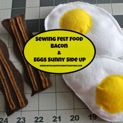Felt Food Bacon & Eggs Sunny Side Up