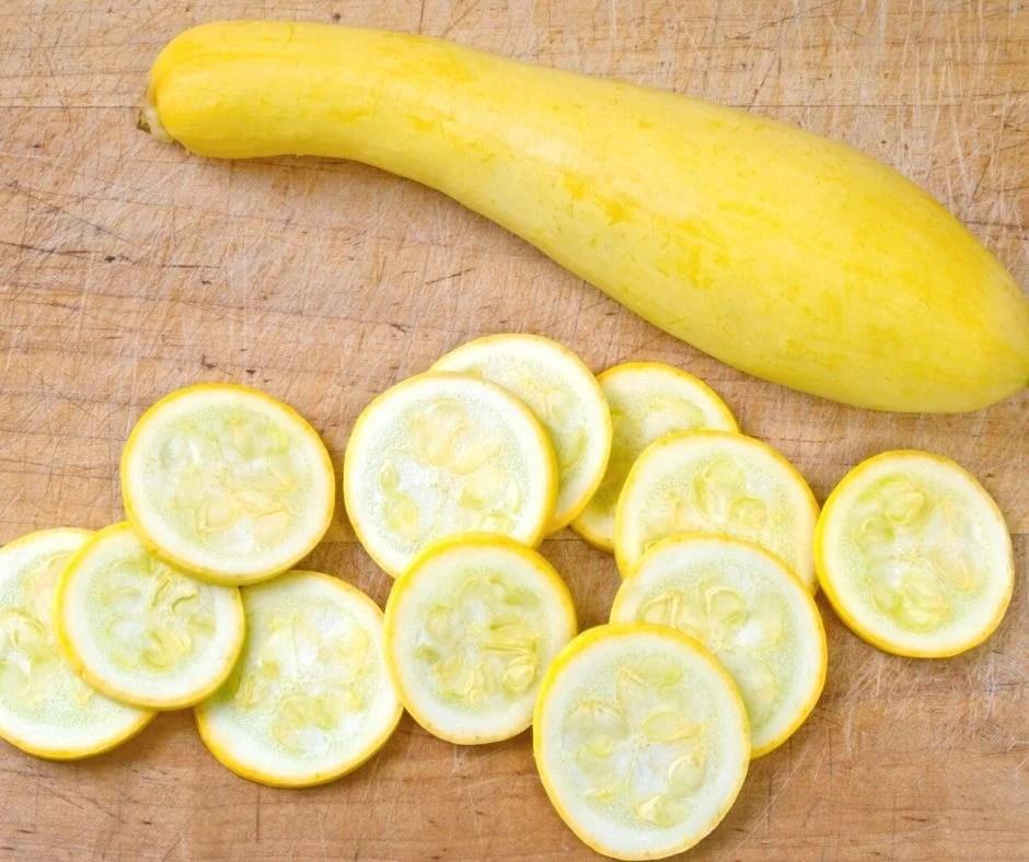 Sliced yellow squash