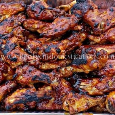 3 Ingredients Easy Crockpot BBQ Chicken Wings Recipe