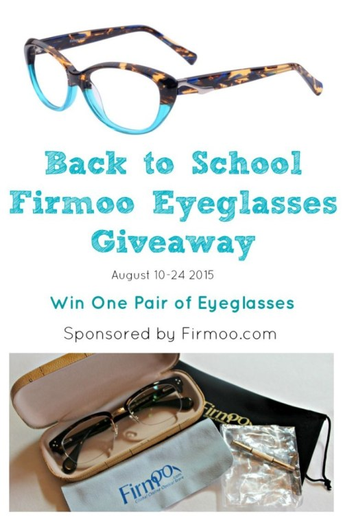 Firmoo Back to School Giveaway. Win one free pair of eyeglasses from Firmoo.com