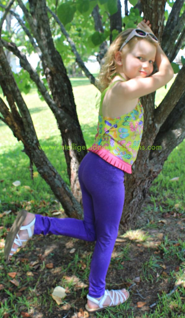 Little girls summer bandana top.www.intelligentdomestications.com