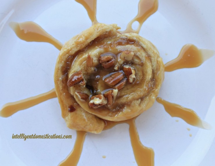 Apple Cinnamon Rolls with caramel icing