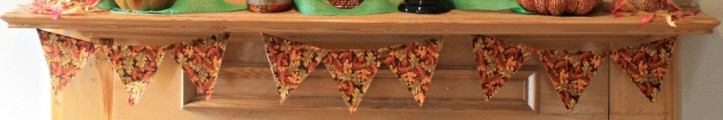 Easy No Sew Fall Mantle Banner.www.intelligentdomestications.com