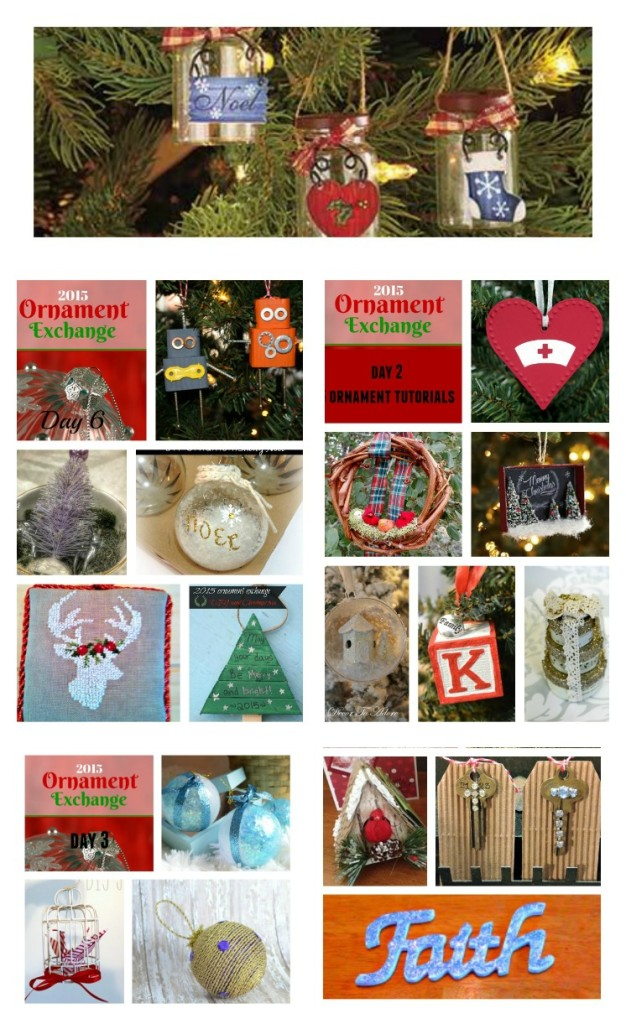 2015 Ornament Exchange Collage