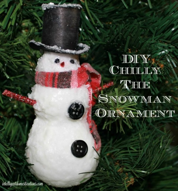 DIY Chilly The Snowman Ornament