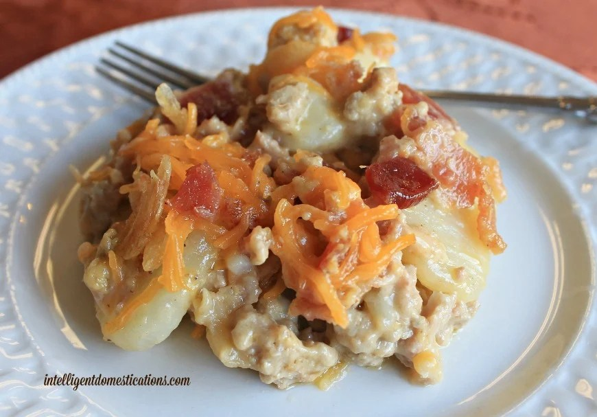 Jazzed up meat and potato casserole 2