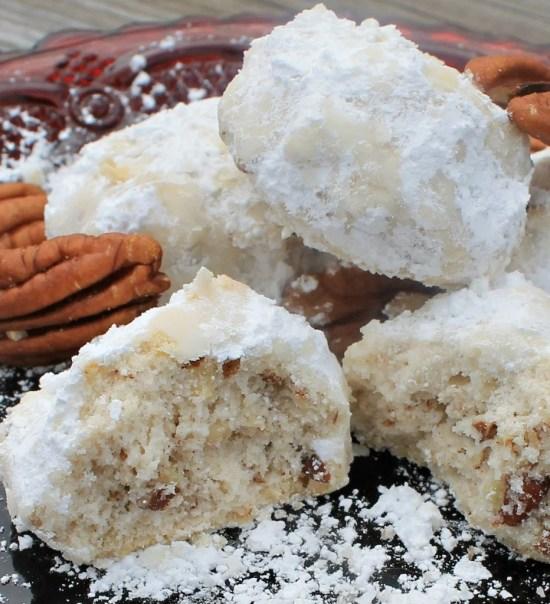 Pecan Snowdrop Cookies