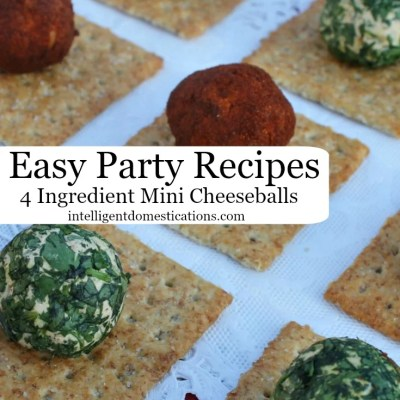 Easy Party Food: Four Ingredient Mini Cheeseball Recipes