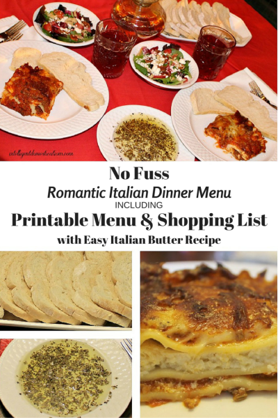 Bertolli and I made an affordable romantic dinner complete with easy Italian Butter recipe