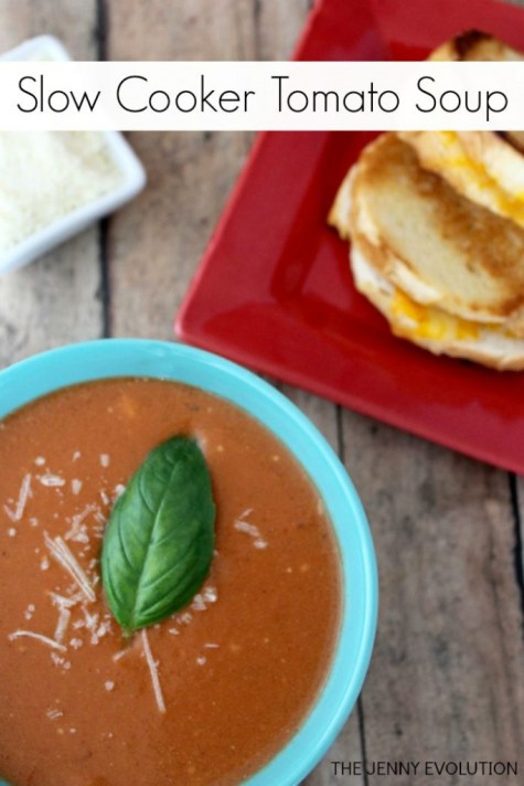 Slow Cooker Tomato Soup at TheJennyEvolution.com683x1024