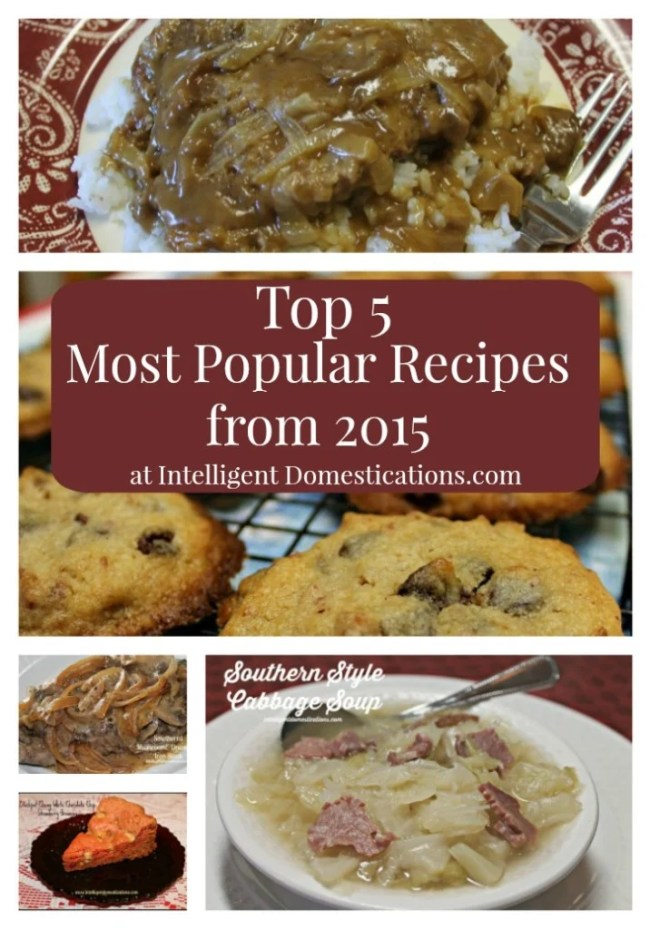 2015 Top 5 Most Popular Recipes at intelligentdomestications.com