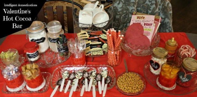 Ideas for setting up your own Valentine's Hot Cocoa Bar. Enjoy the winter season with a warm and welcoming Hot Coffee Bar which can double as a Valentine's Hot Cocoa Bar in February. See out toppings and what we serve on our coffee corner. #coffeebar #hotcocoabar #Valentines