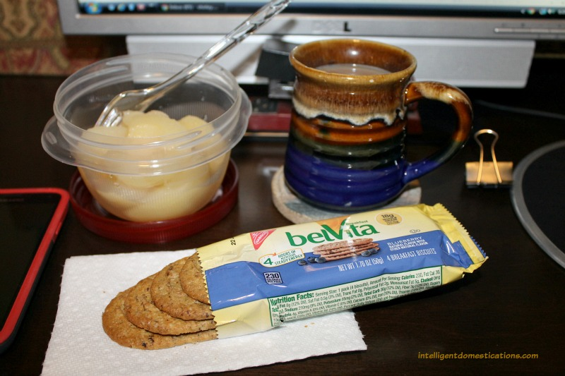 belVita Breakfast Biscuits and fruit for a satisfying breakfast.intelligentdomestications.com