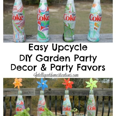 Easy Garden Party Decorations and Favors