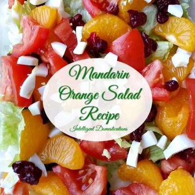 Mandarin Orange  Salad And 4 Ingredient Mandarin Orange Dressing