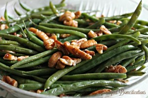 Pecan glazed green beans recipe