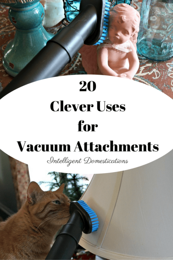 20 Clever Uses for Vacuum Cleaner Attachments. Make cleaning your home easier by putting your vacuum attachments to work for you. #cleaningtricks #homecleaninghacks #housecleaning #cleaning