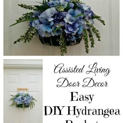 DIY Hydrangea Door Decor