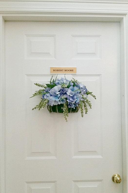 Assisted Living Hydrangea Door Decor.intelligentdomestications.com