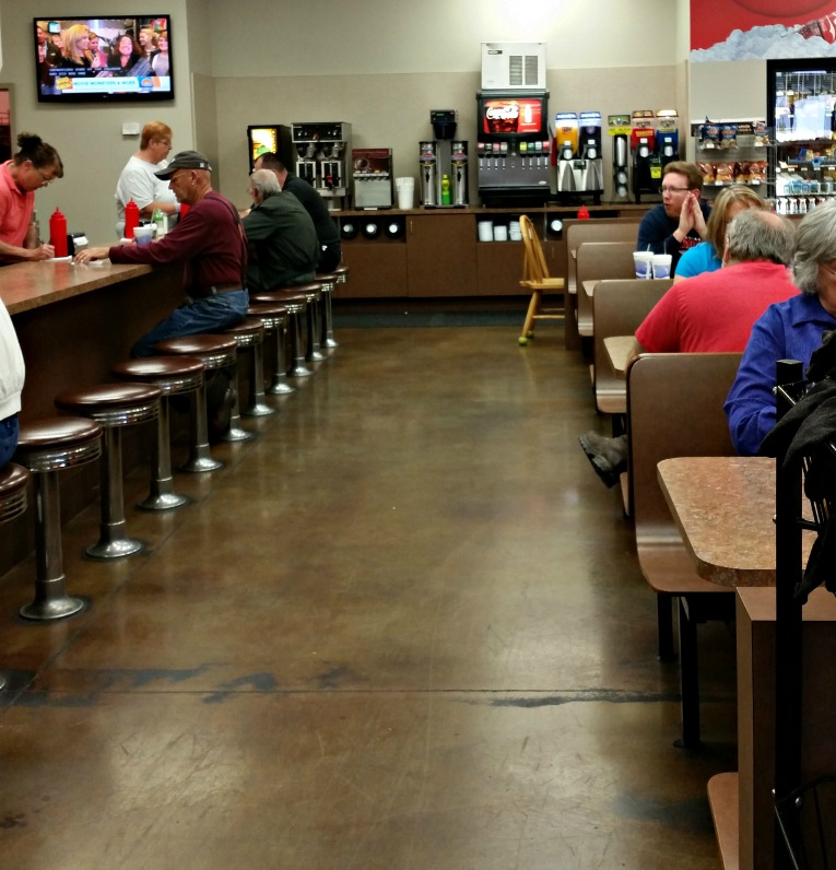 Frank Allen's Pigeon Forge, Tn. Old fashioned soda shop type dining.Gas Station dining can be fabulous.photo by intelligentdomestications.com