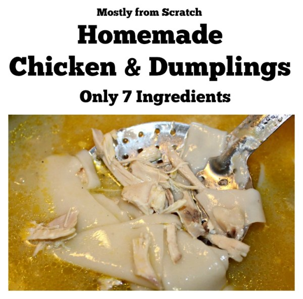 Homemade Chicken and Dumplings recipe. Almost from scratch Chicken and Dumplings