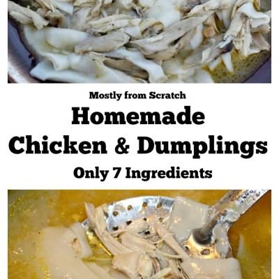 Mostly From Scratch Homemade Chicken & Dumplings