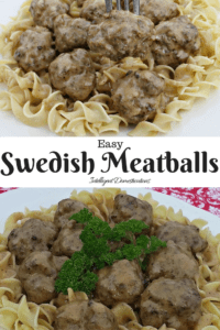 Easy Swedish Meatball recipe with 2 meats and only 8 ingredients at intelligent domesticatications.com
