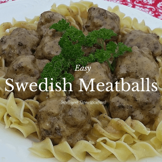 Easy Swedish Meatballs Recipe