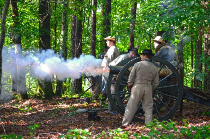 picketts mill cannon smoke