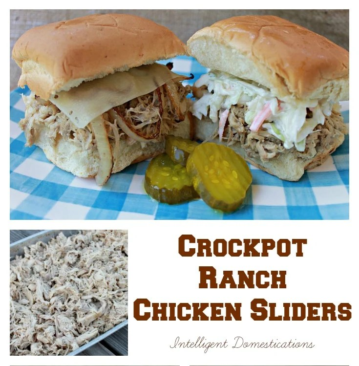 Crockpot Ranch Chicken Sliders is an easy 3 ingredient dinner with lots of possibilities to personalize for your family's taste.