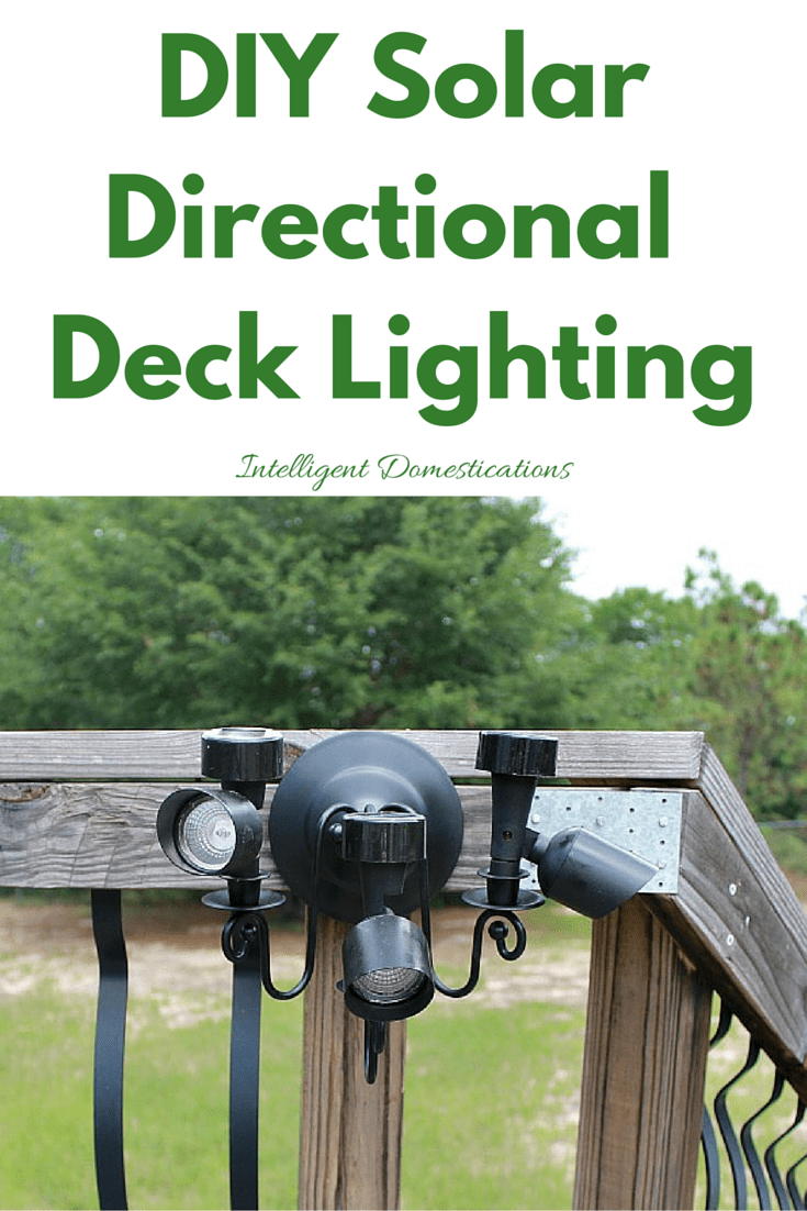 DIYSolarDirectional Deck Lighting