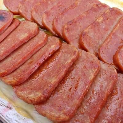 Glazed Baked Spam Recipe