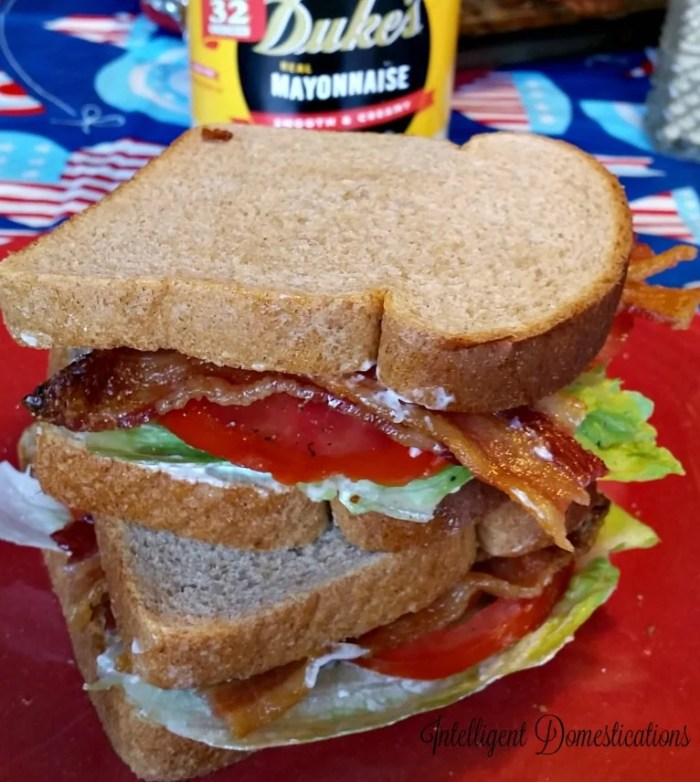 Bacon Lettuce and Tomato Sandwhiches